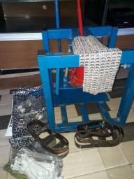 Fábrica de chinelo manual