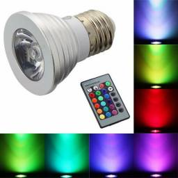 Título do anúncio: Lampada Led RGB Par 16 Spot Controle