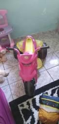 Moto eletrica menina rosa