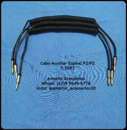 Cabo Auxiliar Espiral P2/P2 comprar usado  Campo Grande