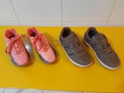2 calçados p menino tamanho 33