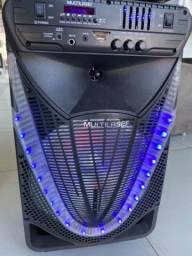 Caixa de som 700W portátil da Multilaser