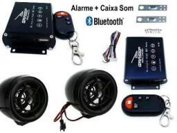 Alarme para moto com caixa Bluetooth