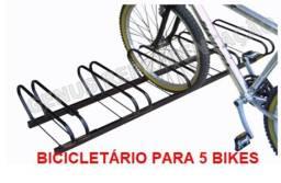 Bicicletario para 5 Bicicletas - Ideal para Comercio e Condomínios
