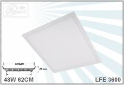 Luminaria led 48W 62X62CM 6000K 4320lm - forro modular ou gesso