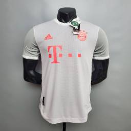 Título do anúncio: Camisa Bayern De Munique Away Branca 20/21 - Jogador