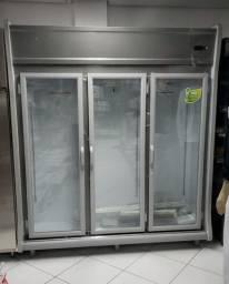 Auto serviço refrigerador gelopar 3 portas (novo) Alecs