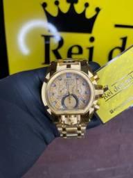 Título do anúncio: Invicta Magnum banhado a ouro 18k