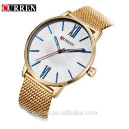 Curren Relógio Quartz Masculino Dial Ultrafino Casual