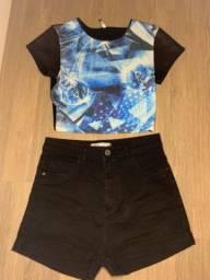 Conjunto (Shorts + Cropped)
