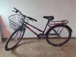 Título do anúncio: Bicicleta com cesto e bagageiro