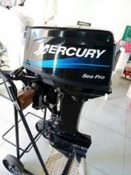 motor de popa 25hp Mercury ano 2014 impecável  por motor de menor valor