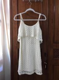 Título do anúncio: Vestido de renda Branco Forever 21