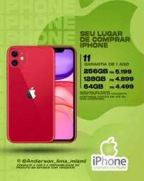 iPhone 11 64gb novo, aceitamos seu iPhone usado como parte do pagamento.