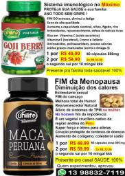 Maca Peruana Fim dos calores estimulante Menopausa