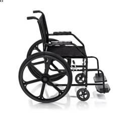 Cadeira de Rodas Dobrável  Pneu Anti Furo - Locação e Venda
