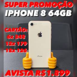 iPhone 8 64gb gold rose, em até 18x no cartão com acréscimo