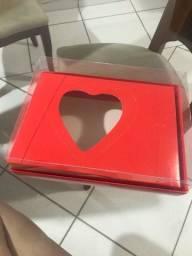 Embalagem coração