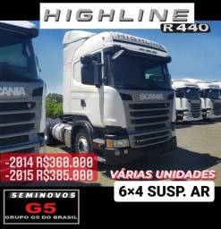 Scania R440 Highline 6X4 2014 e 2015