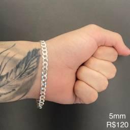 Promoção em todas as pulseiras de prata italiana 925