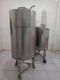Tanque inox 500 l + Mexedor inox 250l