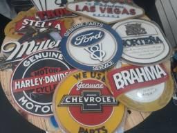Placas decotativas bar barbearia moto carro