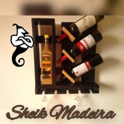 Adega suspensa vinho para sala
