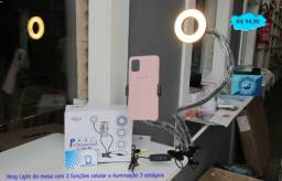Ring Light de mesa com 2 funções celular e iluminação 3 estágios Entrega Grátis!