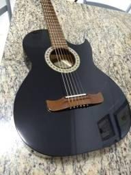 Violão elétrico Pompeo estilo guitarra les paul top