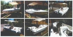 Lancha Real Ligth 16 pés motor Evinrude Etec 50 hp - 1992