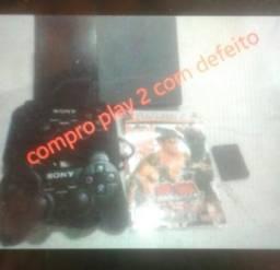 Compro play 2 com defeito
