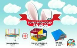 Mega promoção: Pula pula + casinha de bolinhas