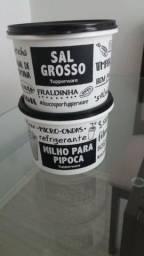 Tupperware Mantimentos Milho Para Pipoca e Sal Grosso