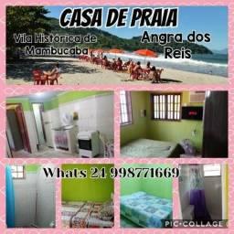 Casa na praia - Vila Histórica de Manbucaba
