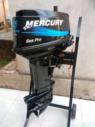 Motor de popa Mercury 25 Sea Pro (30 HP) 2T - Ano 2013 - Impecável - 2013