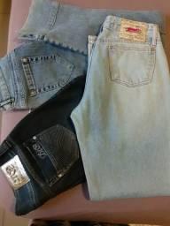 3 Jeans Tamanhos 42 e 44 Marcas: DTA, Civil e Limelight
