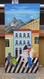 A.almeida arte naif medida 80x30, usado comprar usado  São Paulo