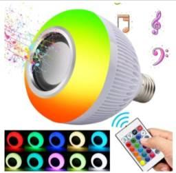 Título do anúncio: Lâmpada Bluetooth Bulbo LED Caixa de Som Embutida Controle com 16 Cores e 24 Funções