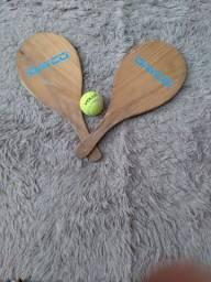 Raquetes de madeira com bola da Vollo(original)