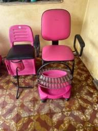 Título do anúncio: Cadeira do cliente  cadeira da manicure  tripe e esposito
