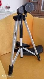 Pedestal para celular e máquina fotográfica