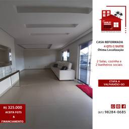 Casa 4 Qts c/Suíte Etapa A Valparaíso-GO (Ac. Financiamento)