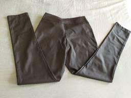 Calças: resinada bordô, couro ecológico, de sarja, skinny colorida.... Baratinho!