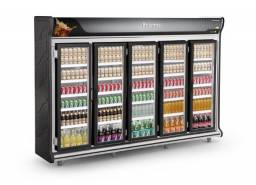 Expositor 5 portas para cervejas temperatura -4 a -2 *douglas