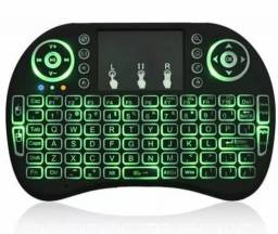 (NOVO) Mini Teclado com Led Touchpad Mouse Wireless Android