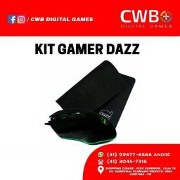 Mouse / Mousepad Kit Gamer Dazz. Novo com garantia. Loja física