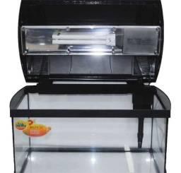 Título do anúncio: Vendo ou Troco - Aquário BOYU - Modelo ZJ-401 - 40 Litros (Completo)