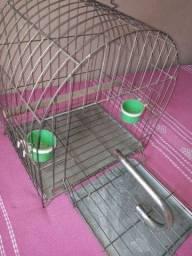 Gaiola papagaio , calopsita , canário , semi - nova
