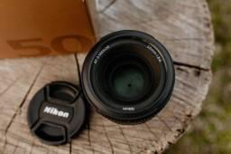 Título do anúncio: Lente Nikon 50mm Af-s f1.8 G
