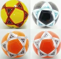 Bola De Futebol Campo Couro Sintético Tam Oficial Colors